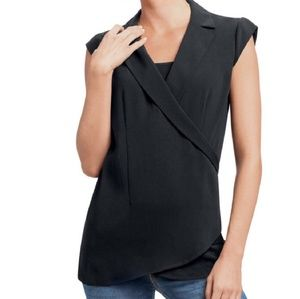 Cabi Origami Faux Wrap Top Large